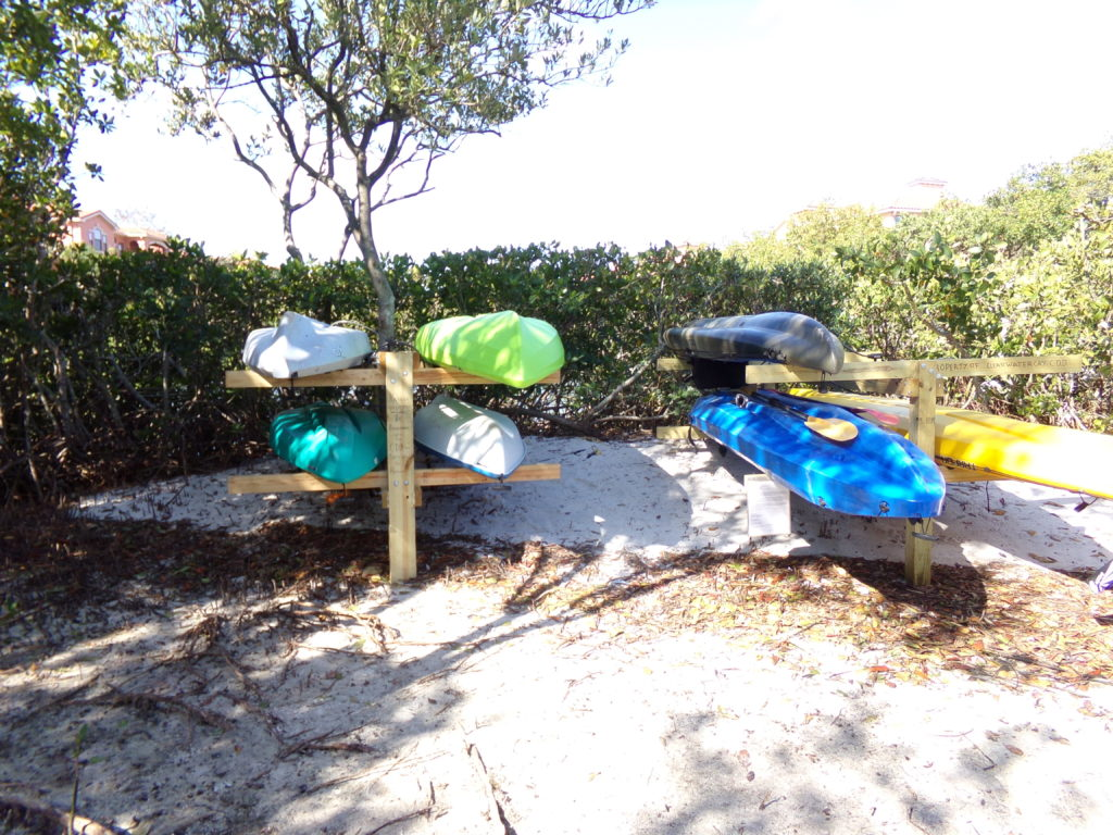 Clearwater Cay CDD Kayak racks for rent